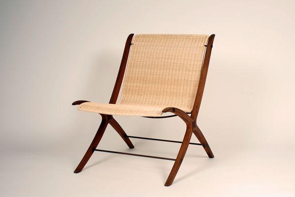 Peter Hvidt & Orla Mølgaard X-chair model 6103. Produced by Fritz Hansen
