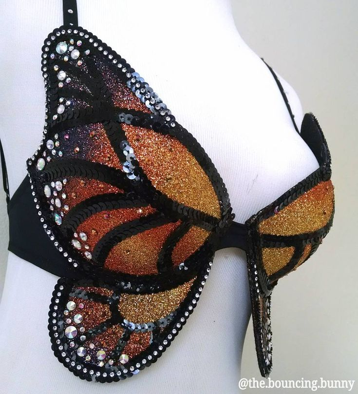 """Monarch butterfly rave bra Paris Hilton the bouncing bunny festival fashion EDC outfit Inspiration plur edm girls rhinestone glitter ombre  222 Likes, 12 Comments -  thebouncingbunny  (@the.bouncing.bunny) on Instagram: """"✨ So much love and care goes into each and every one of my butterfly babies. My monarch design has…"""""""