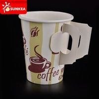 Disposable custom design carton coffee takeaway cups 9oz