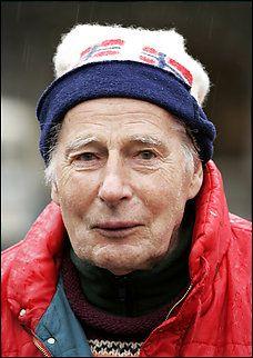 Norwegian philosopher Arne Naess on May 4, 2004 in Oslo.