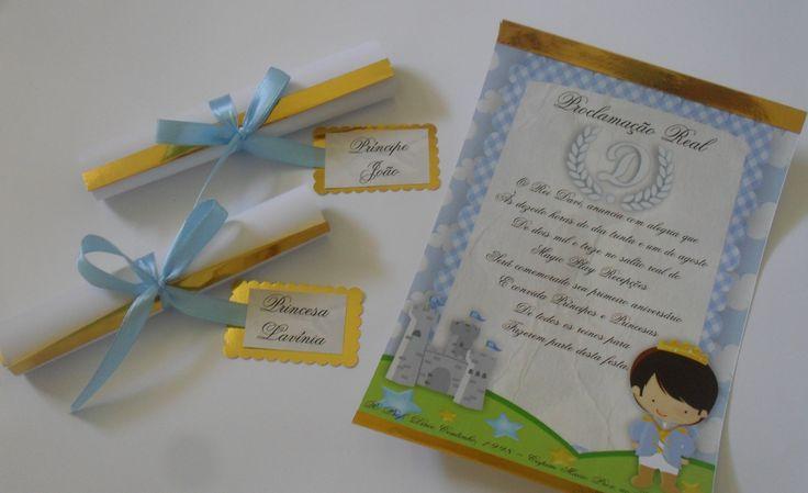 Convite Infantil Festa O Rei Davi. Mais Informações e Orçamento
