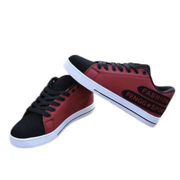 New Men Breathable Fashion Casual Flat Lace-up Wearproof Sport Running Shoes - US$19.13