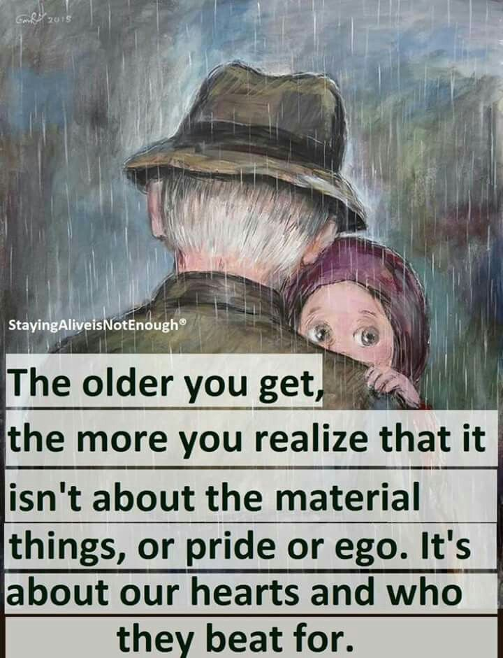The older you get!