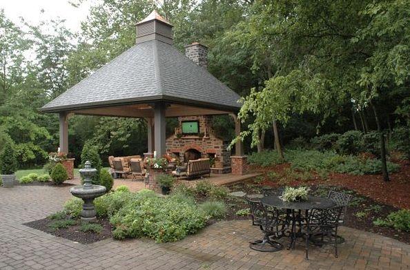 Hip Roof Pavilion With Cupola Backyard Pavilions