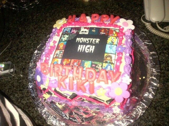 Very busy monster high cake