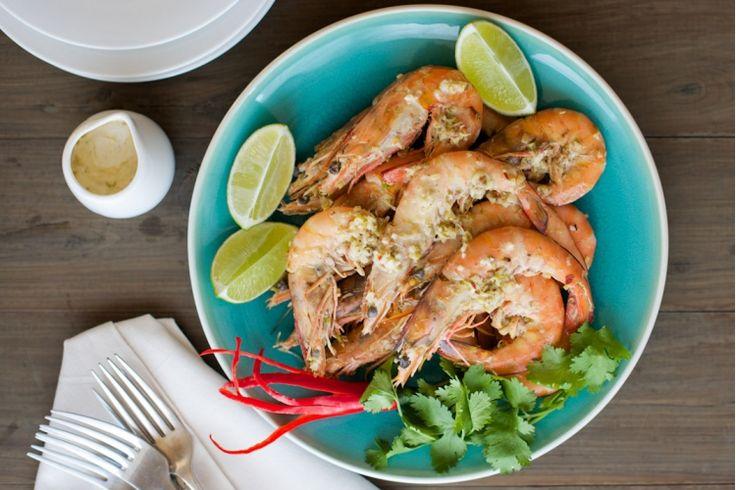 Aromatic Aussie Prawns | #australiaday #prawns #food