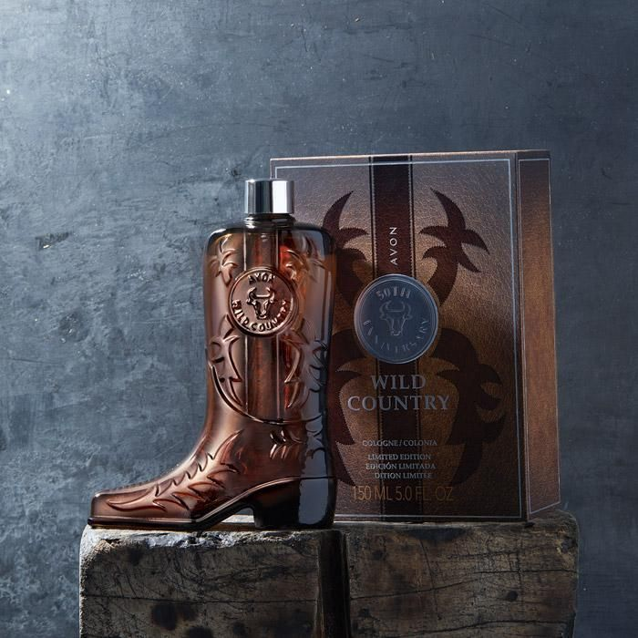 Celebrating 50 YEARS of Wild Country with a  Wild Country Limited Edition Collectible Boot Shaped Decanter| AVON. Hurry before they're gone! www.youravon.com/kstrebeck