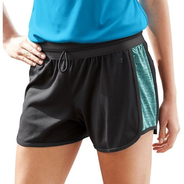 Women's Champion Vapor 6.2 Running Shorts ($16) ❤ liked on Polyvore featuring activewear, activewear shorts, grey, champion activewear and champion sportswear