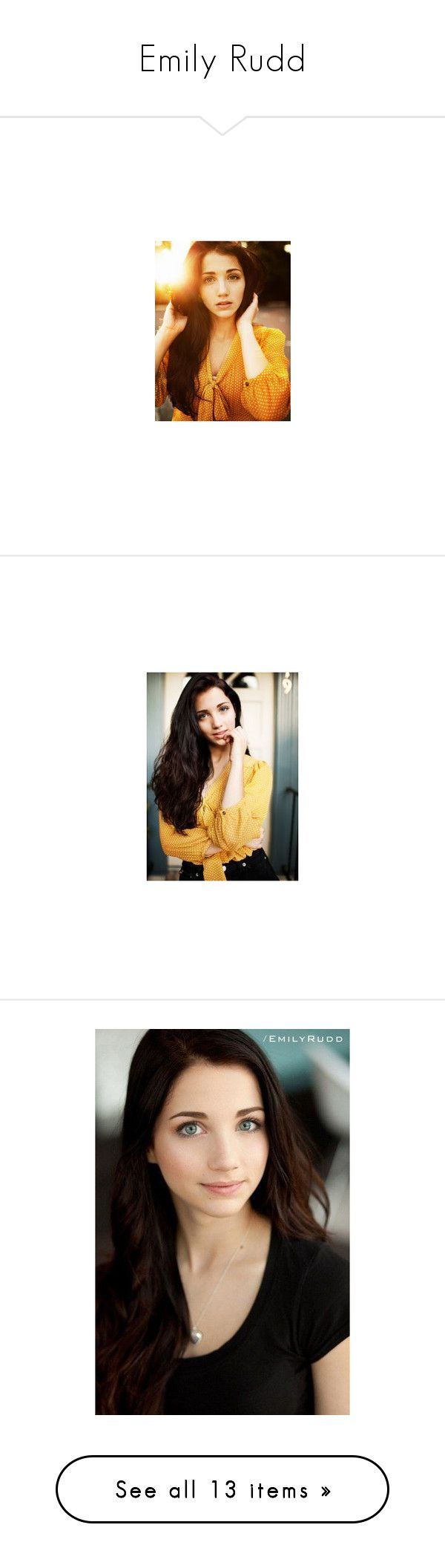 """""""Emily Rudd"""" by niisabel ❤ liked on Polyvore featuring Girls, emilyrudd, emily rudd, pictures, people, emily, models, girls, faceclaims and accessories"""