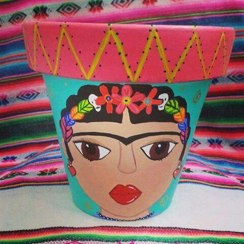 Frida maceta #lîlapilpintuarte