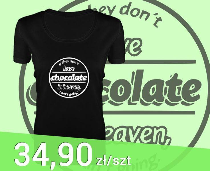 WZORY Koszulka czarna damska T-shirt z nadrukiem S