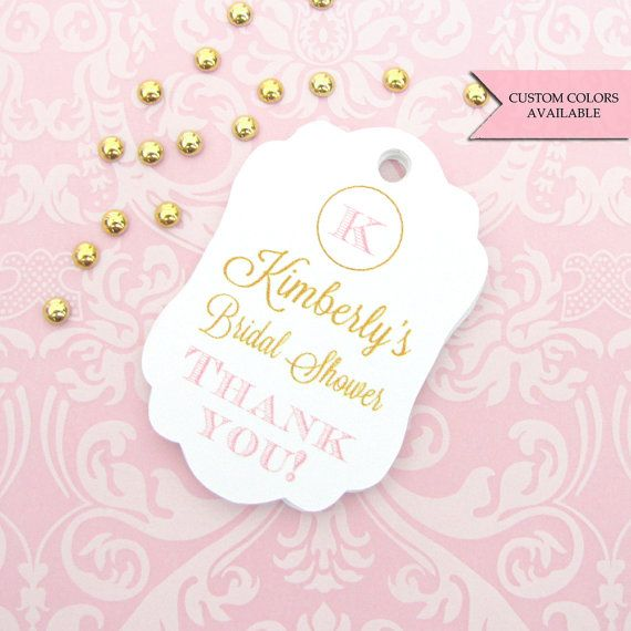 Bridal shower tag 30  Personalized bridal by DazzlingDaisiesCo