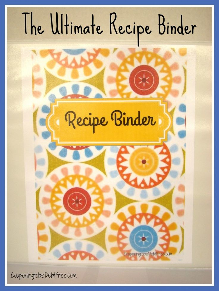 Recipe Binder - so cute and totally free to print! #recipe #binder #printable www.couponingtobedebtfree.com