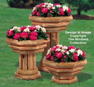 very pretty! May be some one can make these for me some day.  Landscape Planter Trio Wood Project Plan