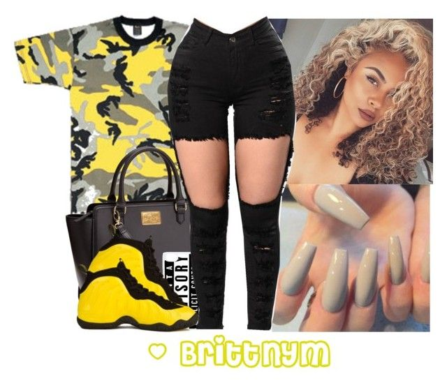 """""""@Brittnym Bodak Yellow"""" by brittnym ❤ liked on Polyvore featuring Rothco, CellPowerCases and NIKE"""