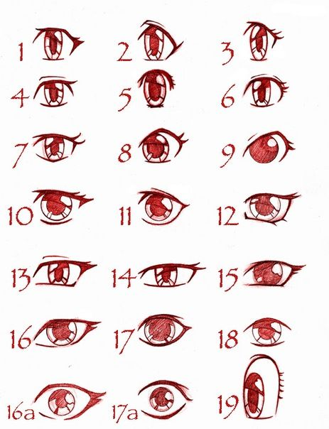Didn't know there was so many different ways to draw eyes...