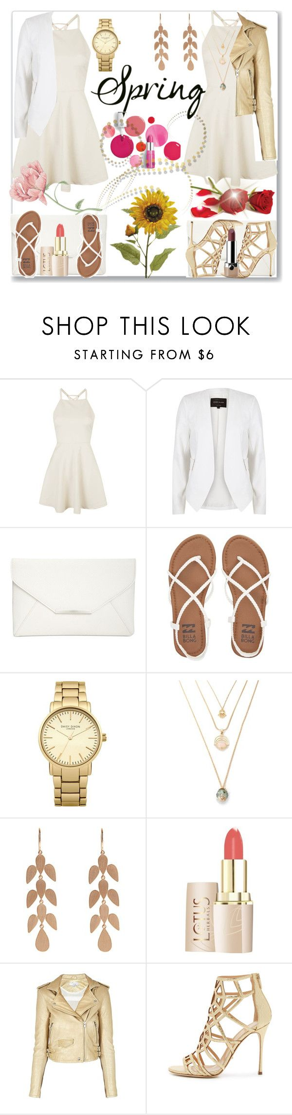 """""""Spring Day to Night Contest..."""" by detroitgurlxx ❤ liked on Polyvore featuring Topshop, River Island, Style & Co., Billabong, Irene Neuwirth, Clinique, IRO, Sergio Rossi and Marc Jacobs"""