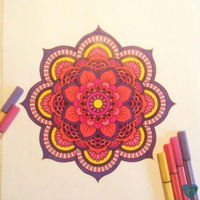 Mandala Blume Malen Ausmalen Zosawelt Bunt Colorful Art Home Decor Decals Home Decor