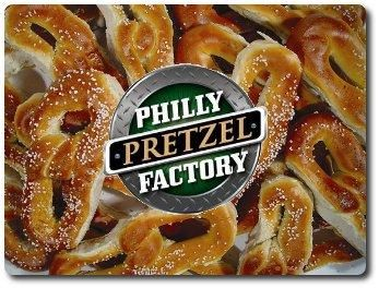 philly pretzel factory - What's that, I HAVE to buy three? Well, okay, you're the boss...