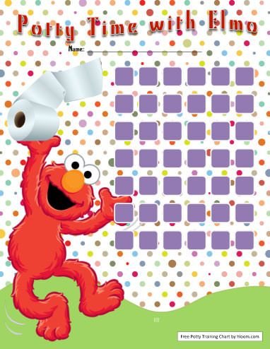 Elmo Potty Training Chart - Free Potty Chart Template by Hloom.com
