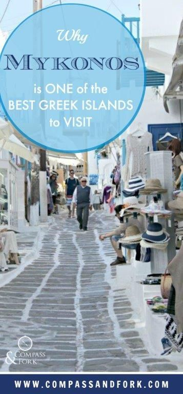 Iconic whitewashed building and traditional architecture, great beaches, restaurants and nightlife.Why Mykonos is One of the Best Greek Islands to Visit https://www.compassandfork.com/mykonos-is-one-of-the-best-greek-islands-to-visit/