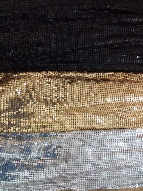 5a5d27793e Metal Mesh Fabric Metallic metalic Metal Sequin Sequined Square ...