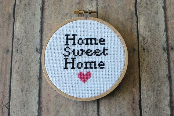Cross Stitch - Home Sweet Home