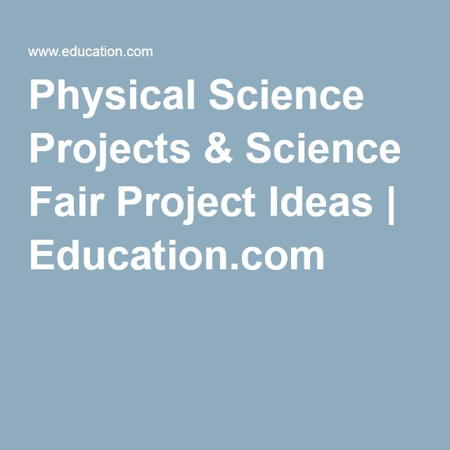 physical science projects Physical science is a branch of natural science that studies non-living systems, in contrast to life science it in turn has many branches, each referred to as a physical science, together called the physical sciences.