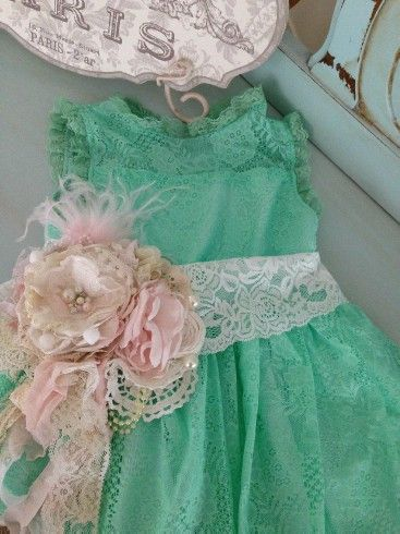 Kids Pictures- Nicole in Cozette Couture Azure Seas Dress with Cupcake Sash