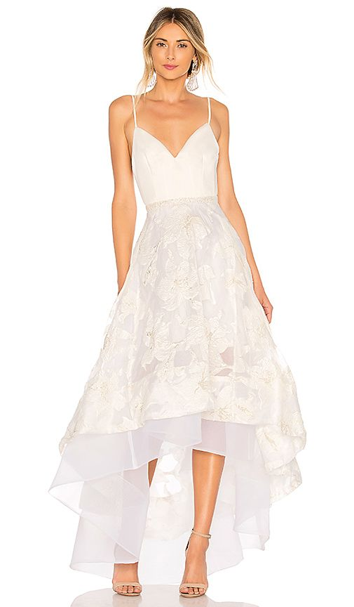 Bronx And Banco Alexia Gown In White Gold Revolve I Hear