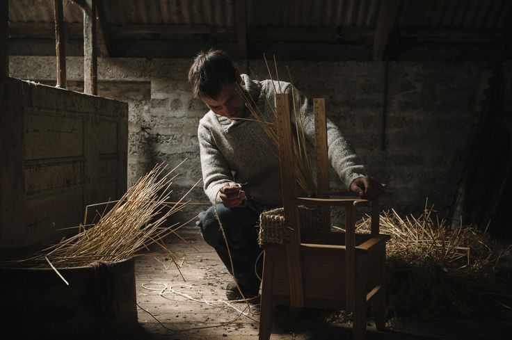 A furniture maker in Orkney, taken by Lynda Laird.