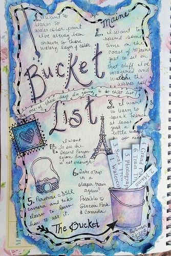 Bucket List journal. Make a vision board