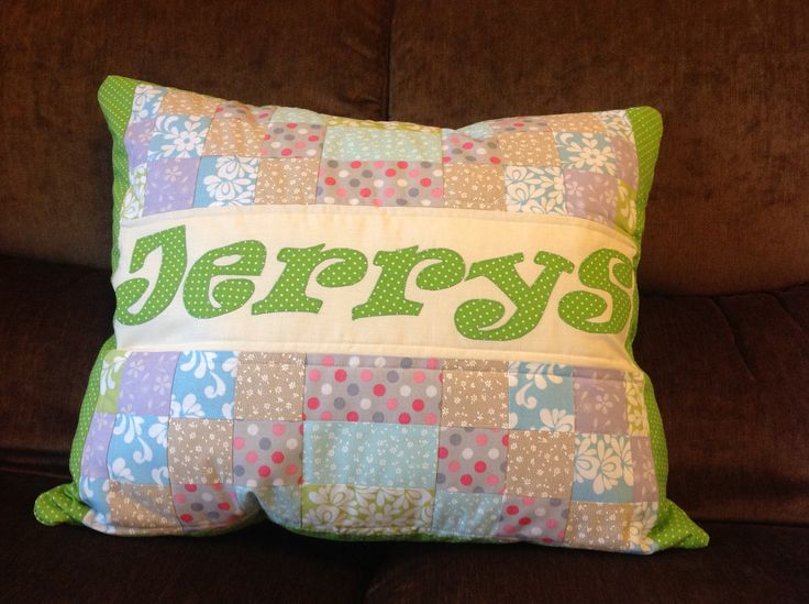 Quilt pillow for Jerry