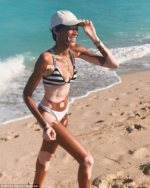 c4f82d496fd Model Winnie Harlow In Thong Bikini   Babious Blog in 2019   Winnie ...