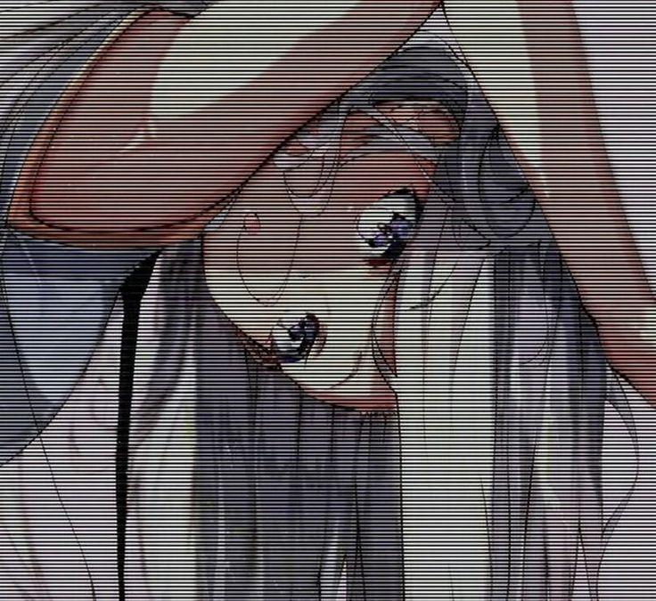 Картинки с полосками аниме заштрихованные