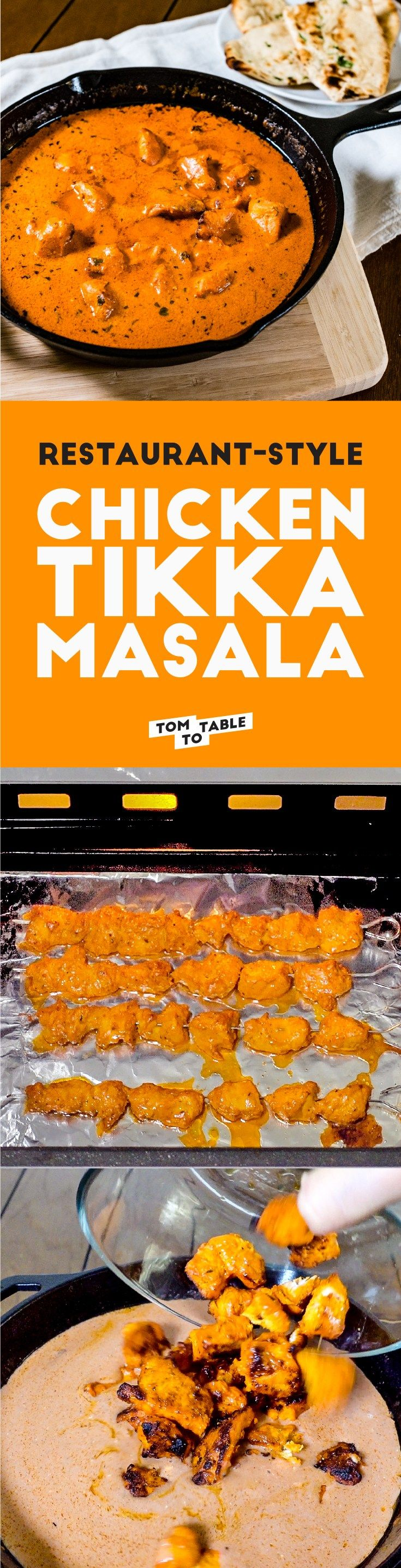 What's your favorite thing to order at an Indian restaurant? I bet it's Chicken Tikka Masala! It's seriously just as good as the one I had at my favorite Indian restaurant and I've been to many! It's a labor of love when making this dish and you'll need an Indian grocery store nearby for the ingredients. If you check those off your list, you're in for a treat. | tomtotable.com #recipe