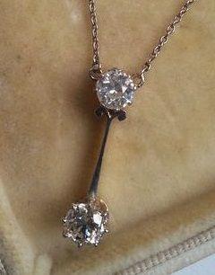 Collier de style Belle Époque/édouardien en or et platine avec diamant, vers 1910