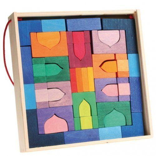 Jeu de construction en bois Oriental (45 blocs) | Your #1 Source for Toys and Games