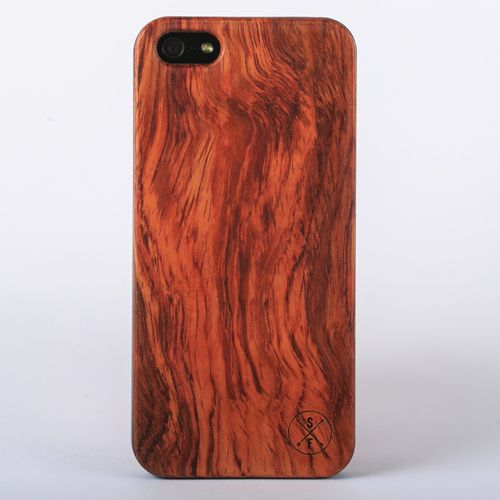 Rosewood Cabot Case - Black iPhone 5/5S - Composed of a solid piece of rosewood with a polycarbonate shell, this unique case offers protection from harmful elements and scratches. Plus, 20% of the sale goes to charity and 1 tree is planted per product sold!