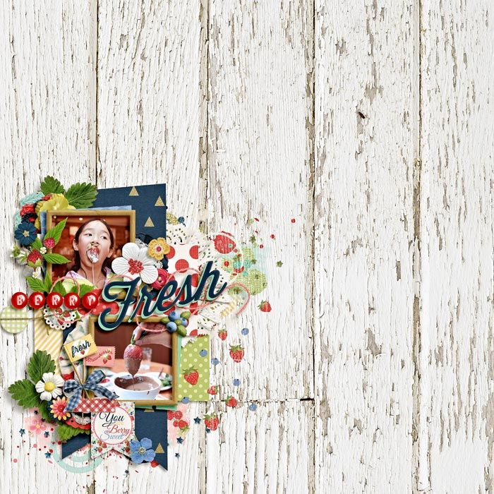 """""""This layout was created for the Sweet Shoppe Summer Shadowbox contest - come join the digital scrapbooking fun at SweetShoppeDesigns.com!"""" credits: cluster me this by zoliofrope berry picking by amber shaw & studio flergs"""