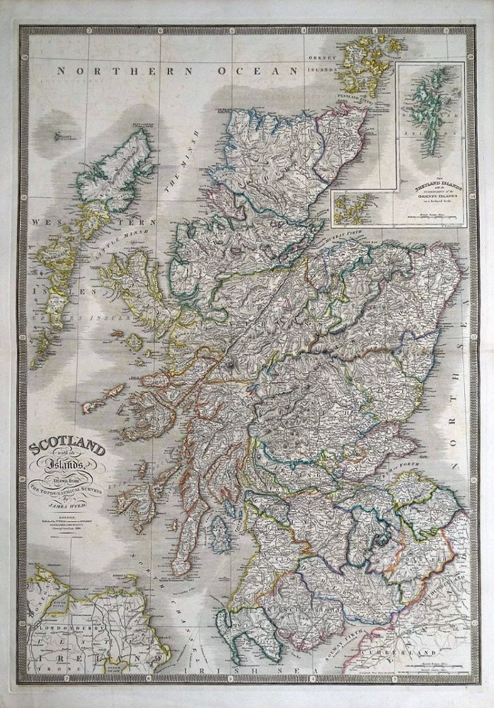 North America Map In 1750%0A SCOTLAND With its Islands Drawn from the Topographical Surveys by James  Wyld Published London      by