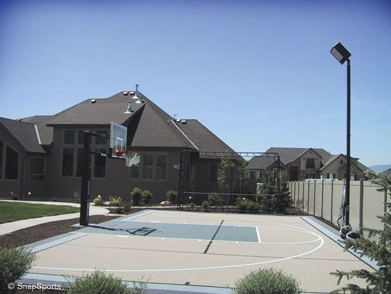 11 best backyard basketball courts images on pinterest for Build your own basketball court
