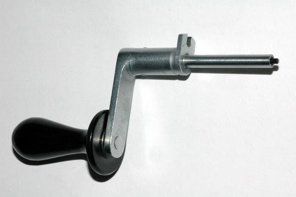 A crank is an arm attached at right angles to a rotating shaft by which reciprocating motion is imparted to or received from the shaft. It is used to convert circular motion into reciprocating motion, or vice versa.