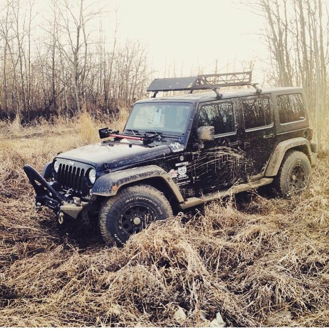The jeep in a field in Leduc Alberta