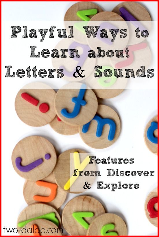Playful Ways to Learn about Letters and Sounds