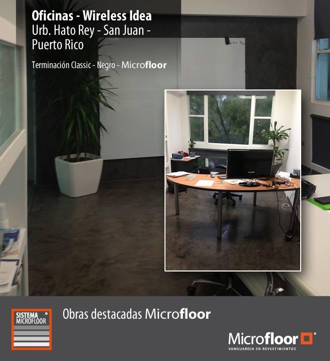 Oficina Wireless - Pavimento revestimiento en microcemento Microfloor Línea Classic