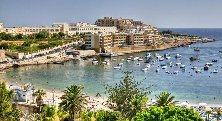 泊ってみたいホテル・HOTEL マルタ島>セントジュリアンズ>マルタ島のセントジョージ湾のパノラマを望む>マリーナ ホテル コリンシア ビーチ リゾート(Marina Hotel Corinthia Beach Resort)