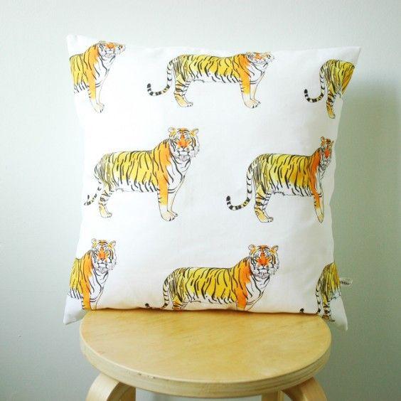 Rebecca Kiff Tiger Cushion Cover - Rebecca Kiff - Shop by Brand - Ragamuffins New Zealand