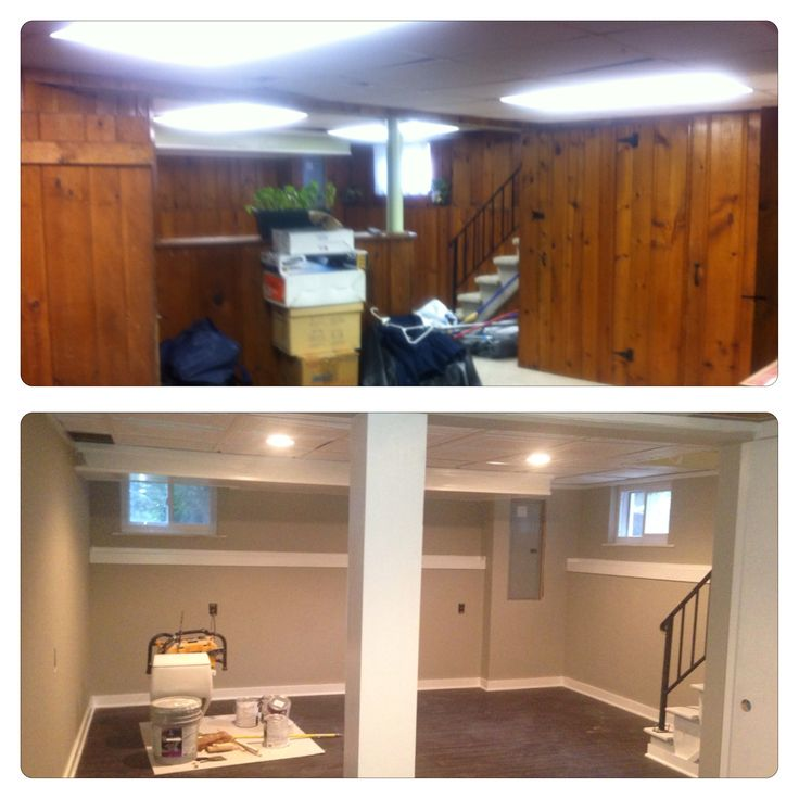 Basement Paneling And Carpet No More