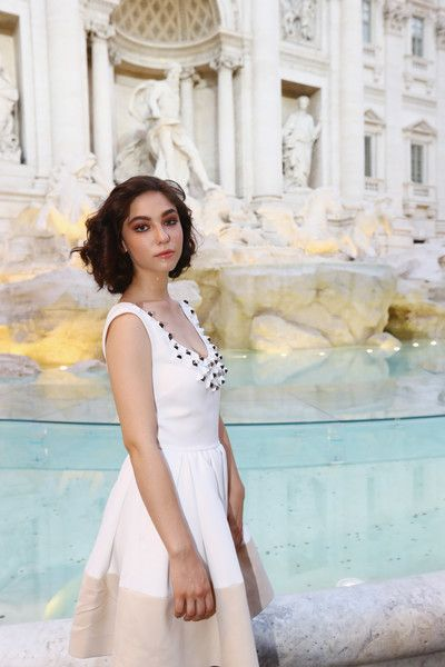 Matilda De Angelis attends the Fendi Roma 90 Years Anniversary fashion show at Fontana di Trevi on July 7, 2016 in Rome, Italy.
